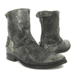 Frye New Melissa Button Zip Short Boots Leather